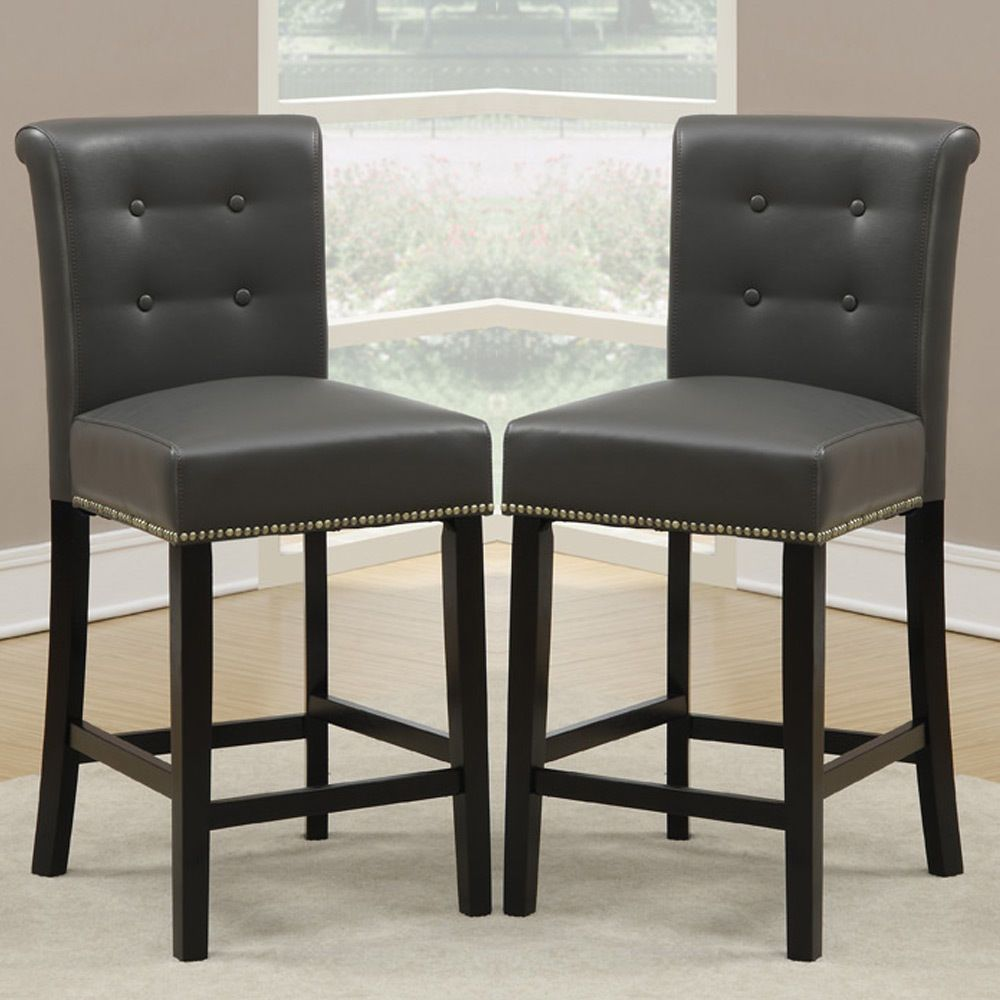 "Set of 2 Dining High Counter Height Chair Bar Stool 24""H"