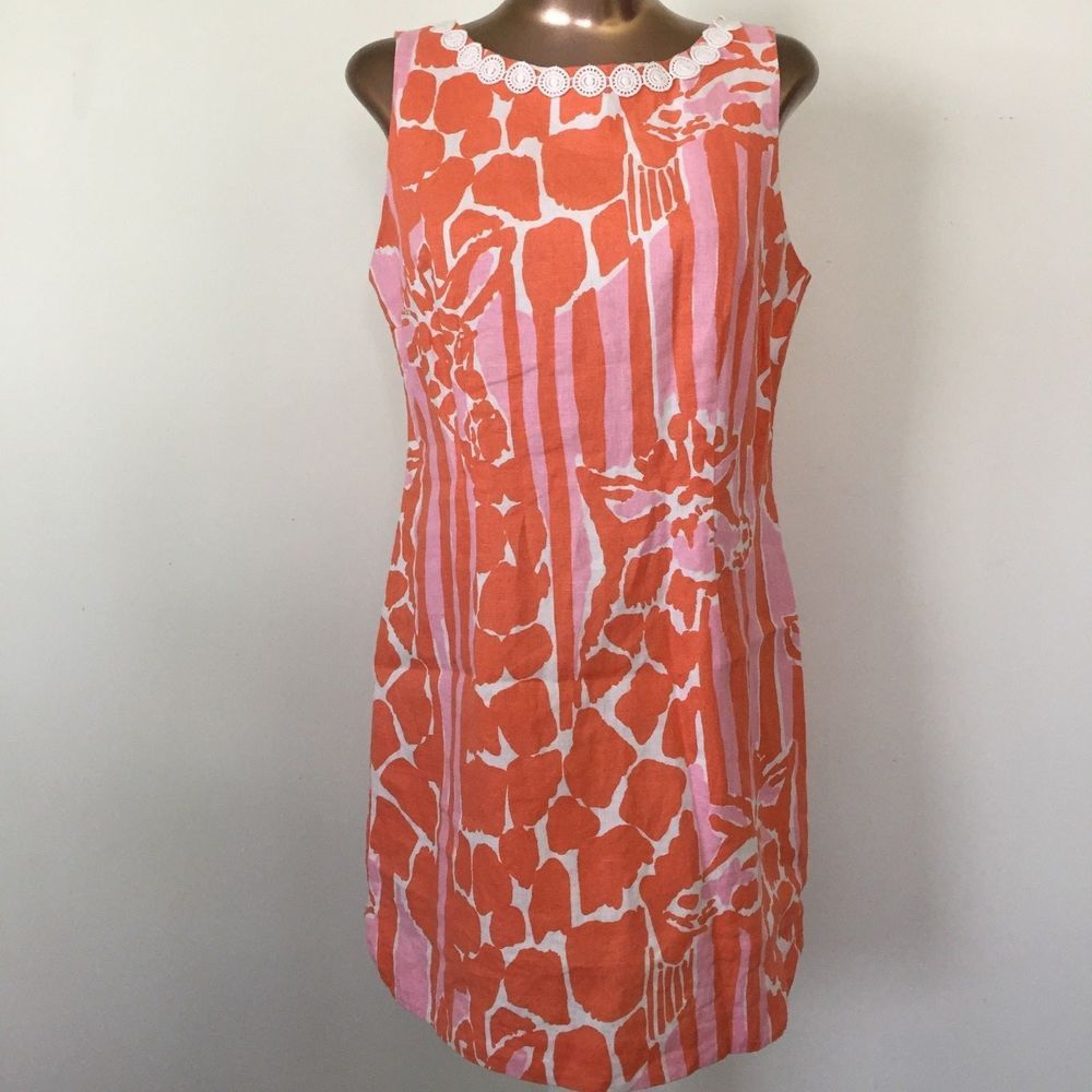 Lilly Pulitzer For Target Women S 12 Giraffe Shift Dress Orange Pink Lace Linen Shift Dress Dresses Lilly Pulitzer Target [ 1000 x 1000 Pixel ]