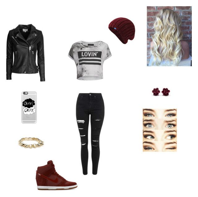 """""""Saturday Night Downtown"""" by obrien91 ❤ liked on Polyvore featuring Casetify, IRO, Religion Clothing, Topshop, NIKE, CC SKYE, Keds, women's clothing, women and female"""
