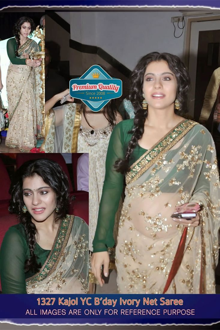 842d980261 Kajol Bollywood Replica Designer Saree | Bollywood Celebrity Replica ...