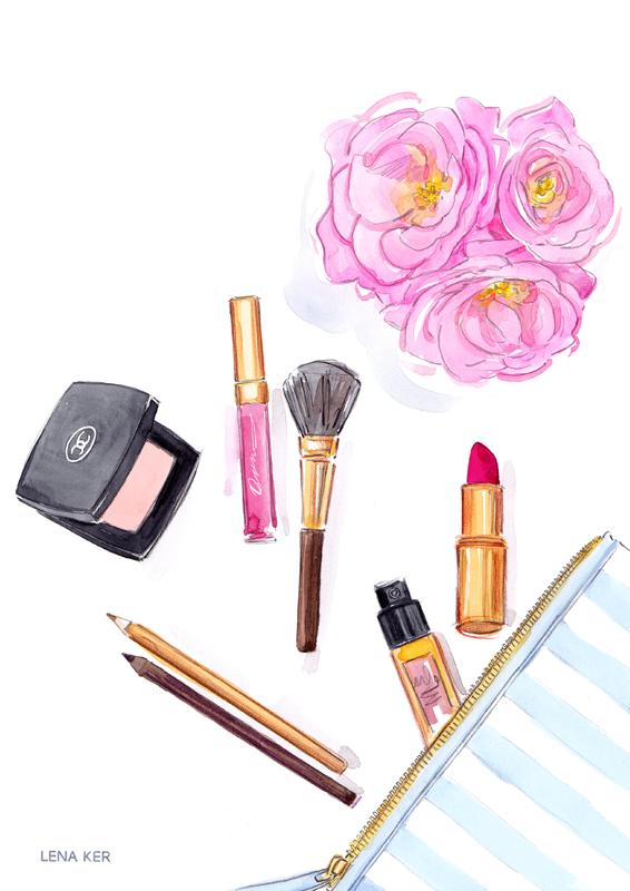 Makeup Drawing: BEAUTY « Lena Ker