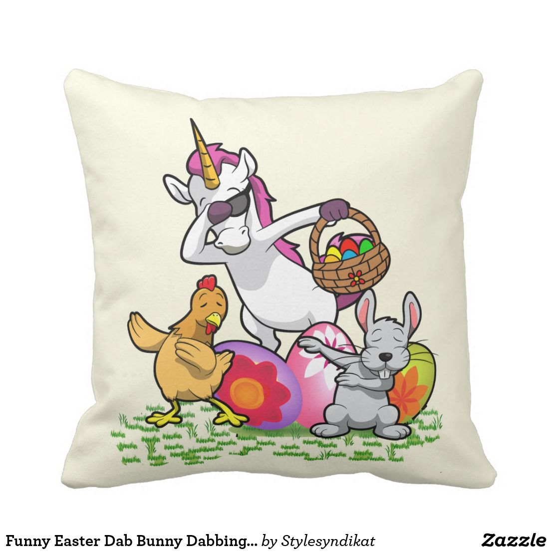 Funny easter dab bunny dabbing unicorn rabbit throw pillow funny easter dab bunny dabbing unicorn rabbit throw pillow negle Gallery