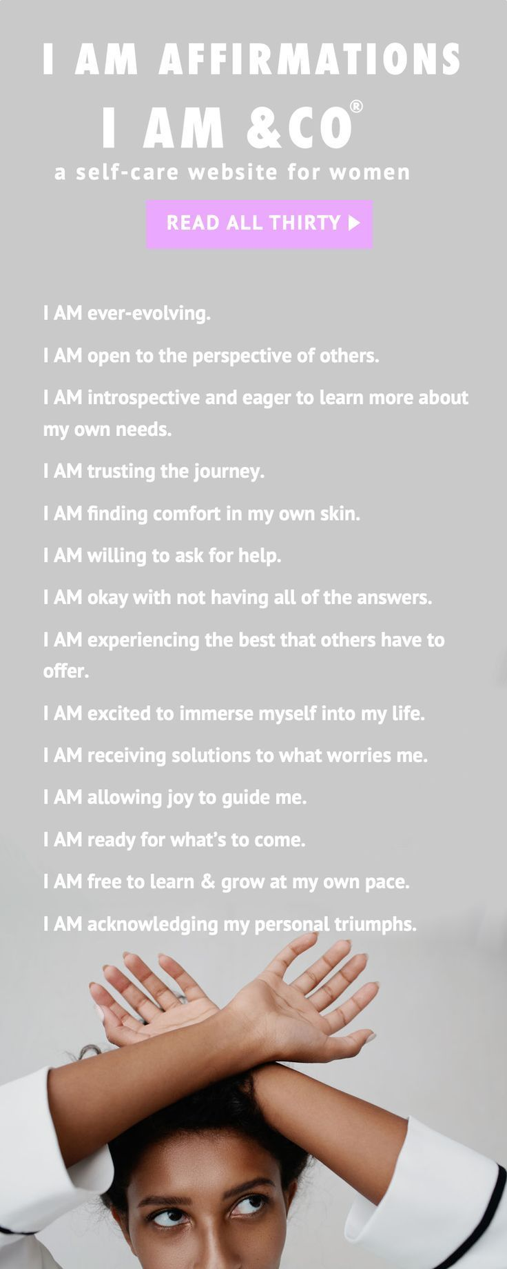 Our list of I AM Affirmations for abundance, power, success, money, and love. Use them gently and know that the purpose of I AM affirmations is for the feeling.  i am affirmations, i am affirmations law of attraction, i am affirmations self-esteem, i am a