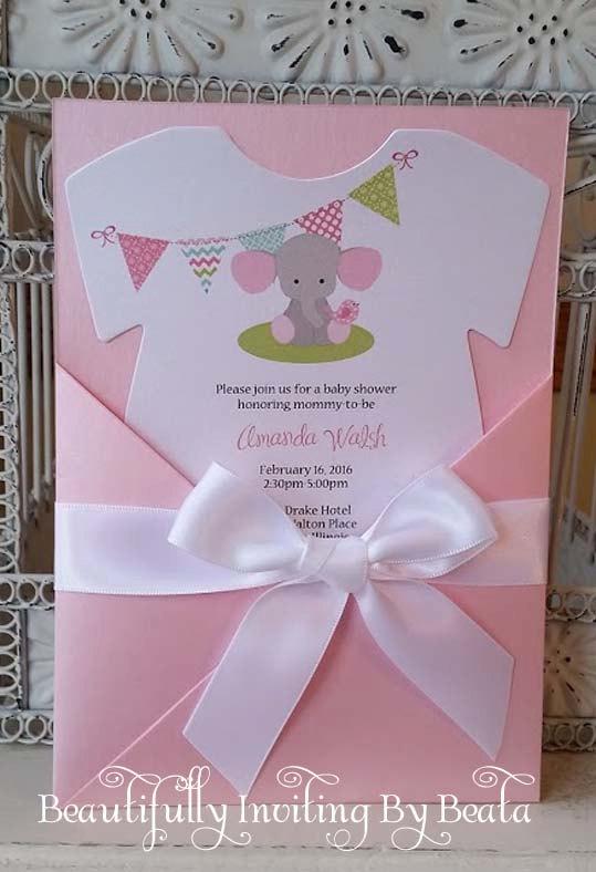 Encintados De Baby Shower De Nina.Baby Elephant Baby Shower Invitation Pink And Gray Baby
