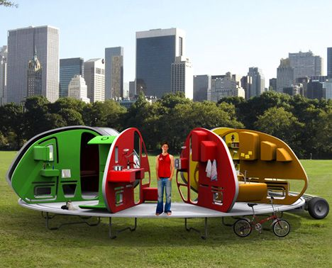 Concept Mini Camper...I am not a camper or mini van-er but I love creative stuff