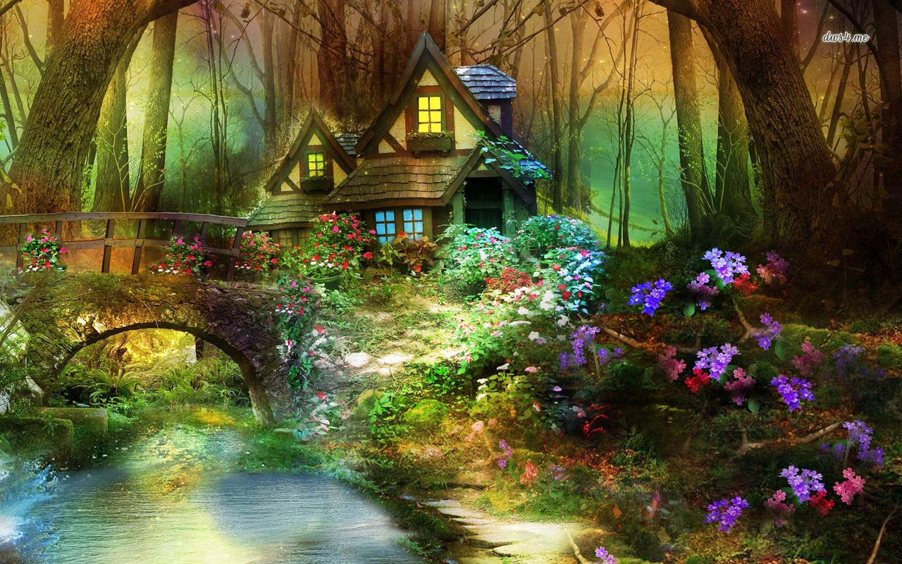 Real Fairytale Landscapes Enchanted Forest Wallp...