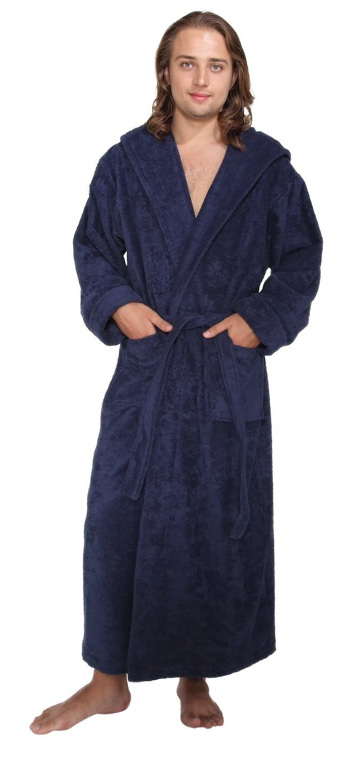 a7e31fb326 Arus Men s Hood n Full Ankle Length Hooded Turkish Cotton Bathrobe at  Amazon Men s Clothing store  Robe