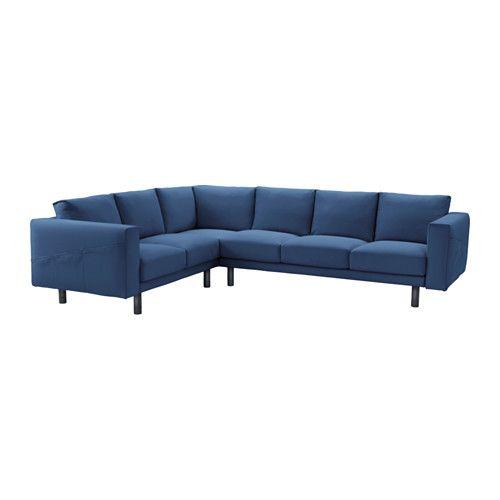 IKEA NORSBORG Corner sofa 2 3 3 2 Gräsbo dark blue grey legs