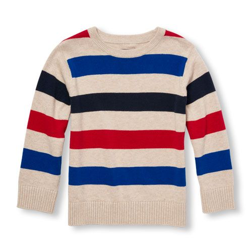 ea70661a6496 Baby Boys Toddler Boys Long Sleeve Striped Sweater - Tan - The ...