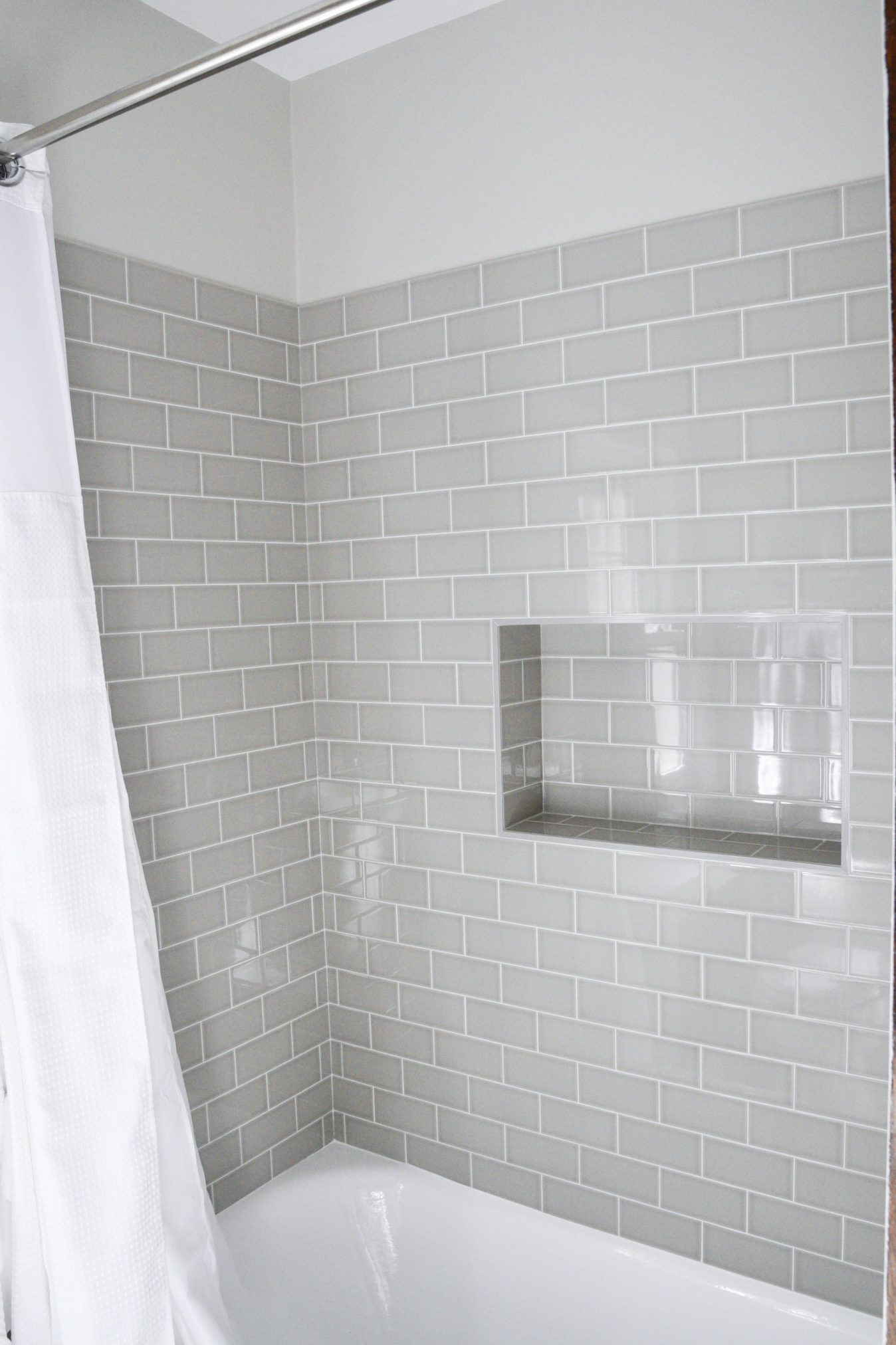 OUR HOME | Bathroom | Pinterest | Gray subway tiles, Subway tiles ...