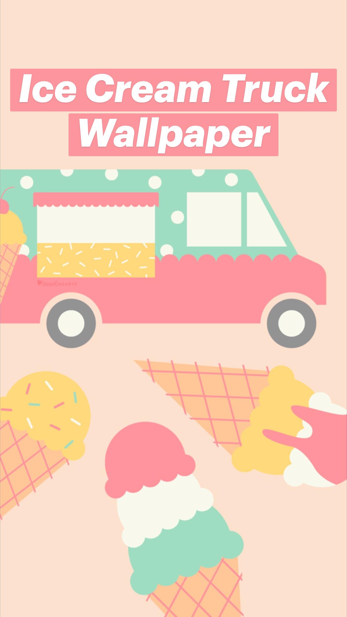 Ice Cream Truck Wallpaper