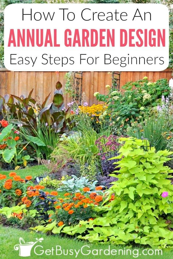Annual Flower Garden Design For Beginners | Flower garden ...