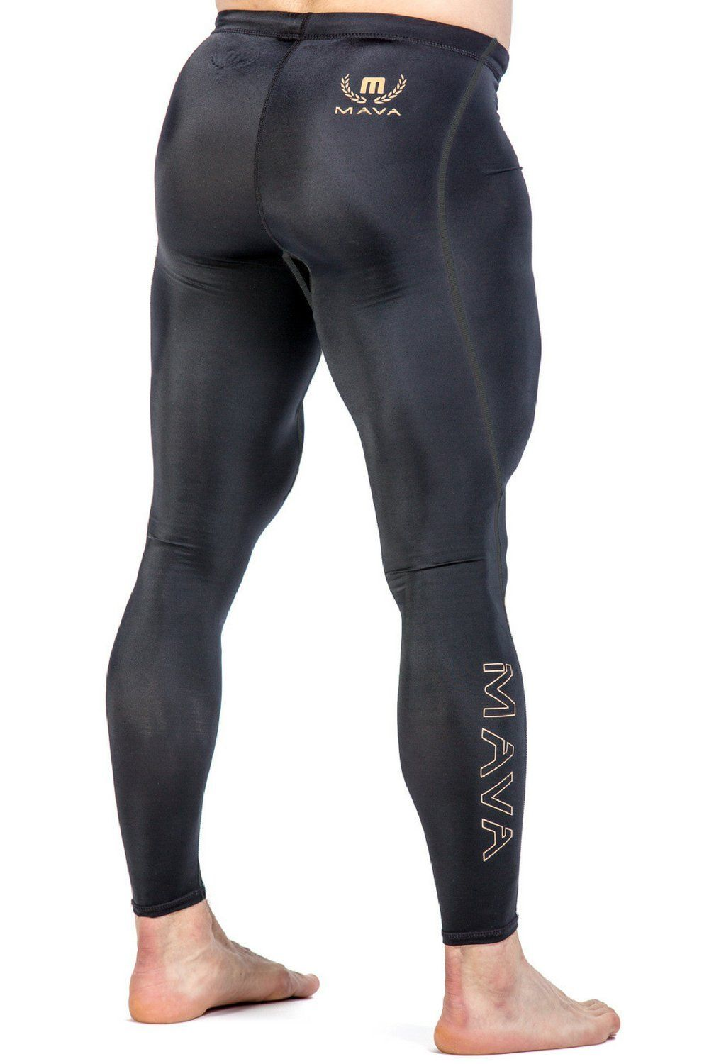 Mava Men S Compression Long Leggings Base Layer Tights For Workouts Running Cycling Sports Training Weightlifting All Tights Men