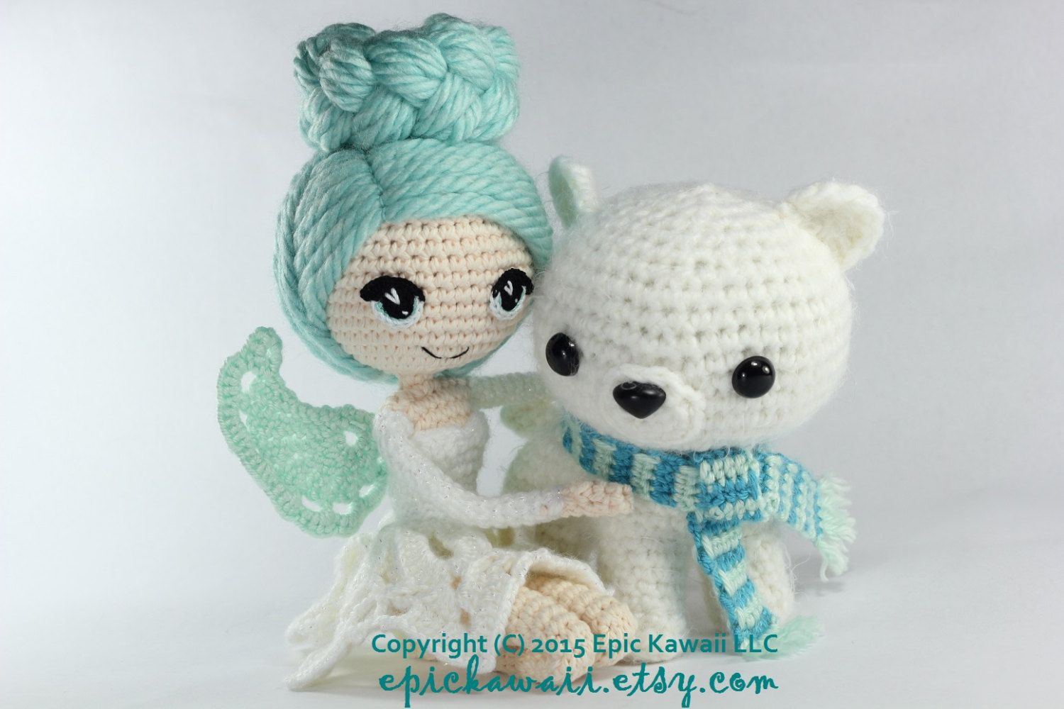 PATTERN 2-PACK: Luciella the Winter Fairy and Peppermint the Polar ...
