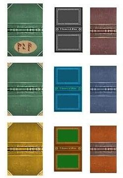 Simple book covers for printing.