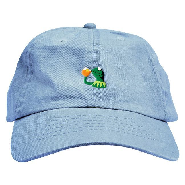 Sipping Frog Dad Hat | Dad hats, Hats, DadsKermit Drinking Lean