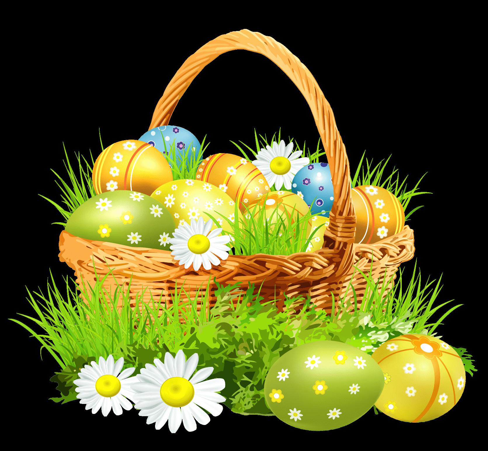 Easter Basket Flowers Transparent Png Stickpng Easter Images Easter Easter Pictures