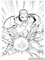 Mewarnai Iron Man Dengan Gambar Halaman Mewarnai Iron Man Gambar