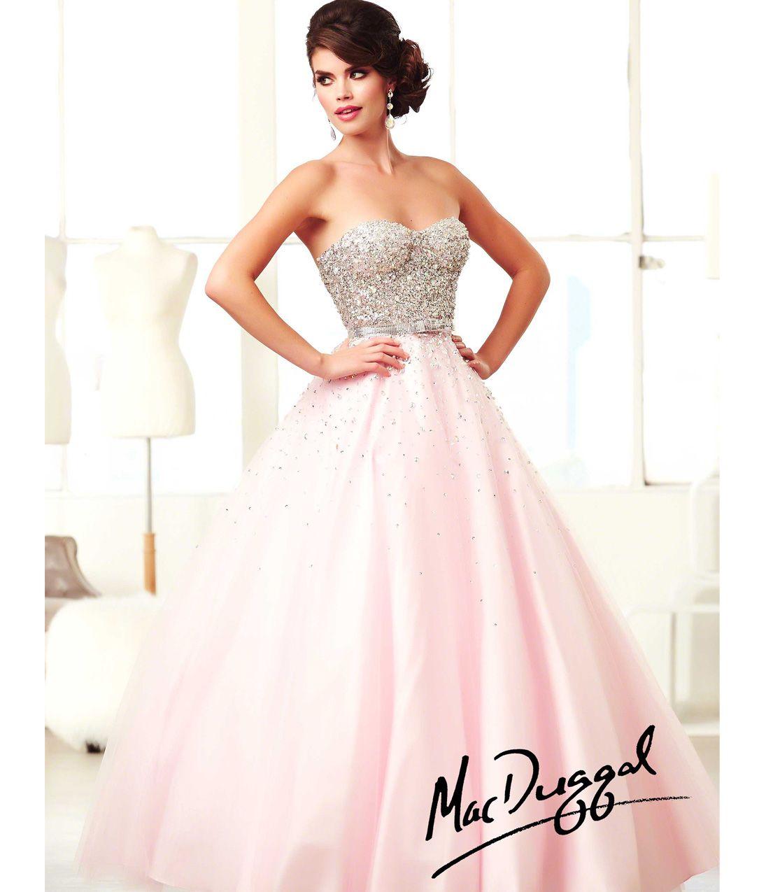 Pink And Silver Prom Dress - Ocodea.com