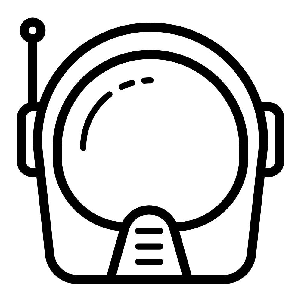 Astronaut Helmet Cosmonaut Space Spaceman Icon Icon Astronaut Astronaut Helmet