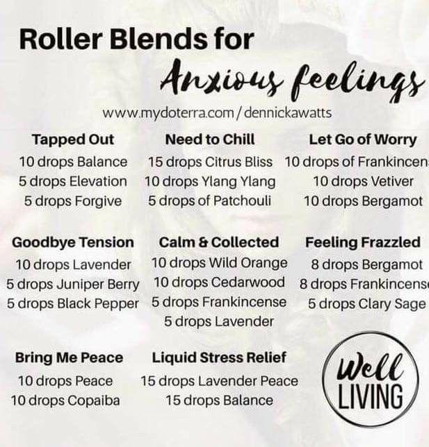 Roller Blends for Anxious Feelings - EOs