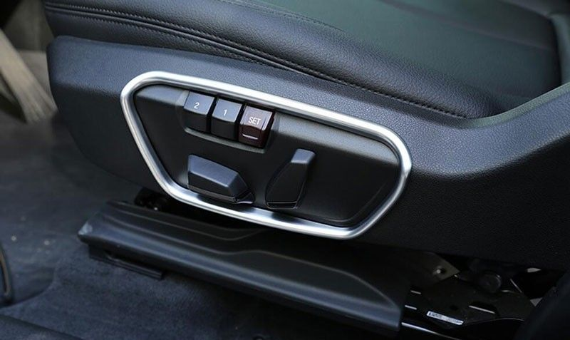 Abs Chrome Seat Side Decoration Frame Cover Trim For Bmw X1 F48