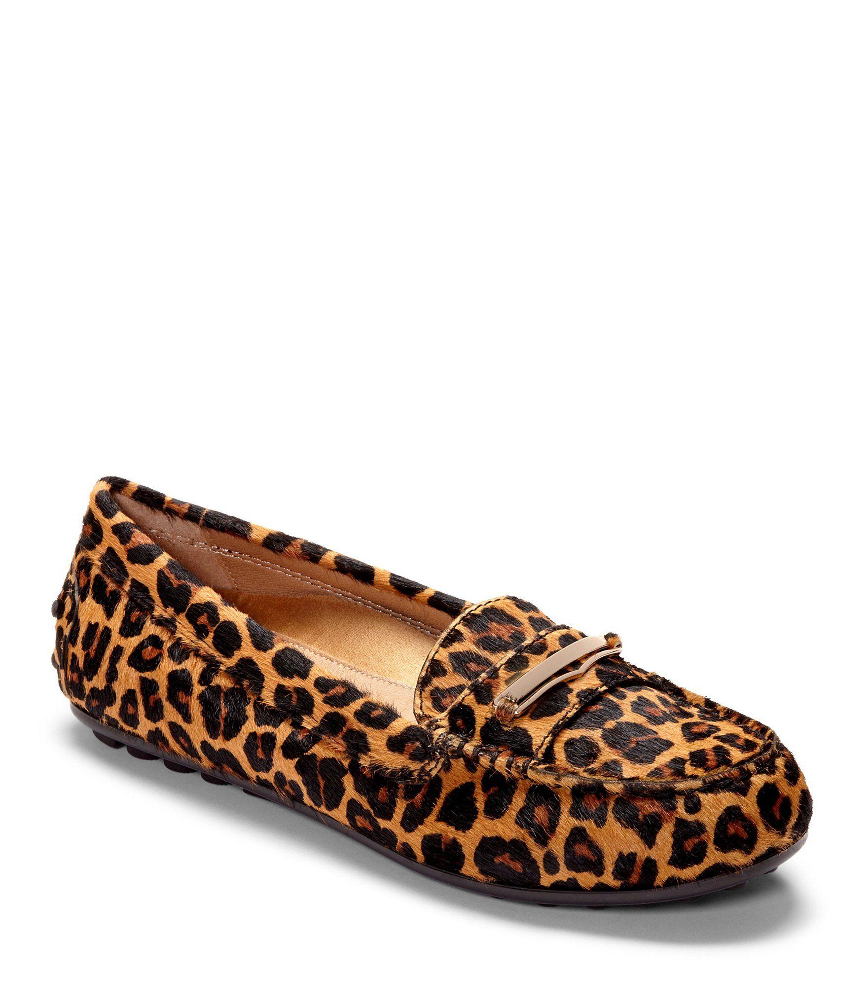 Ashby Leopard Calf Hair Loafers aG00B8aGU