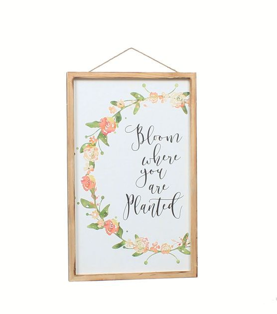 Wild Blooms Wall DecorBloom Where you are Planted Wall