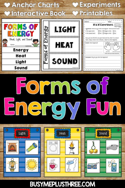 Forms Of Energy Activities For Primary Grades Energy Activities Science Worksheets Kindergarten Anchor Charts [ 1440 x 960 Pixel ]