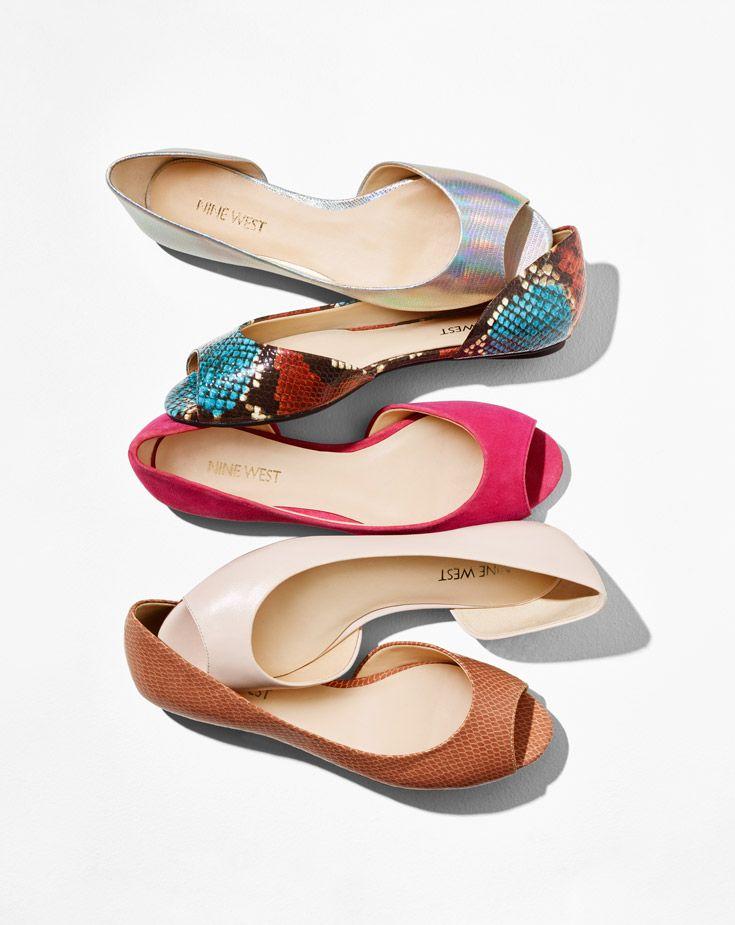 3ded81f9d619 Bachelorette Colorful Peep Toe Flats