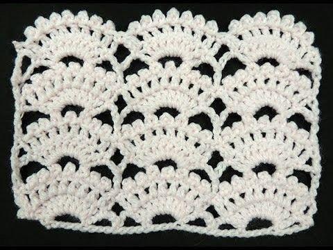 Crochet : Punto Abanico # 8 | Puntadas, Ganchillo y Telar