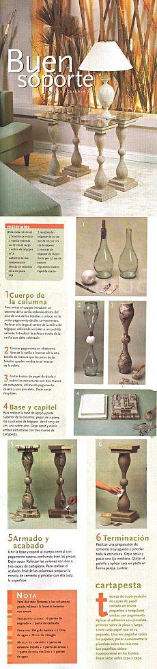 Tabla de botellas.  La fabricación de muebles ..