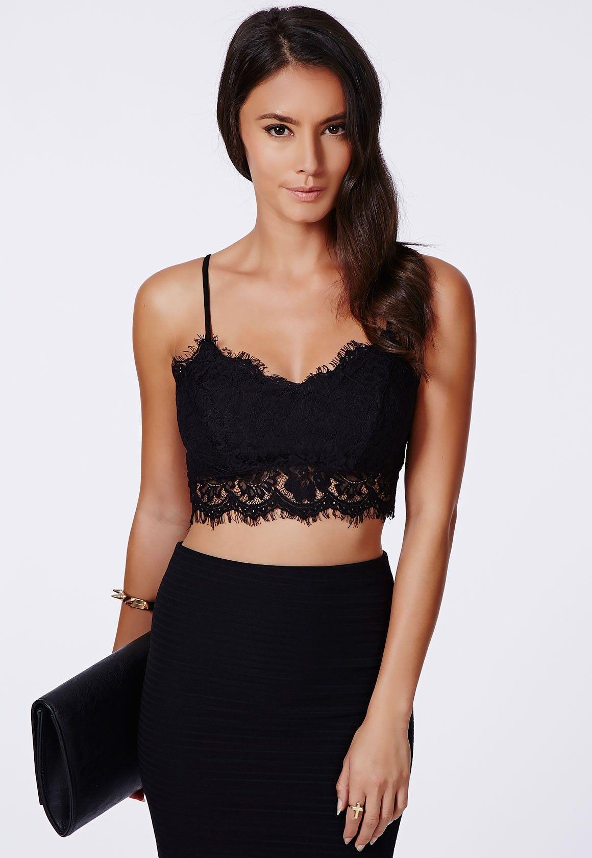 Chic Black Lace Bralette Outfit : Black Lace Bralette Outfit6 ...