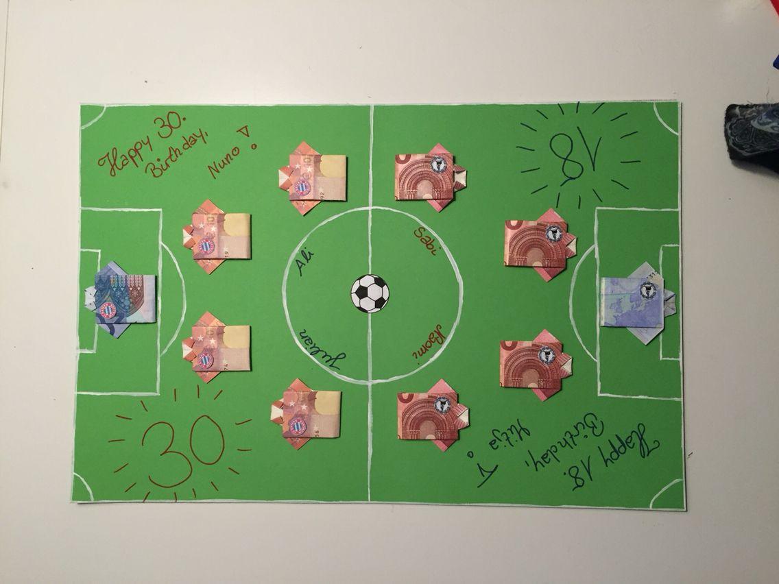 Zwei Fussballfans Ein Geldgeschenk Arminia Bielefeld Gegen Bayern