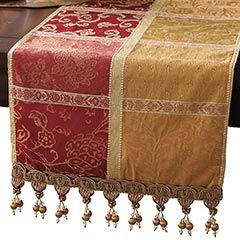 Dining Room Table Toppers Classy Red & Gold Block Floral Table Runner  Diy Another Colour Combo Decorating Design
