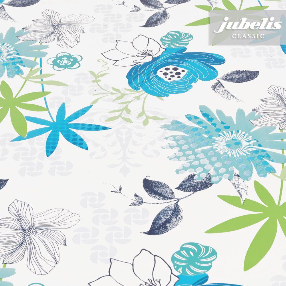 Jubelis Wachstuch Felicia Aqua H 100 Cm X 140 Cm Wachstuch Wachstuch Tischdecke Tuch