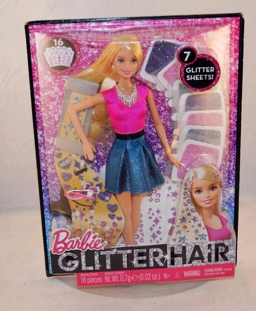 Barbie Glitter Hair Design Doll 16 Pieces Mattel Clg18 Barbie Glitter Hair Hair Designs