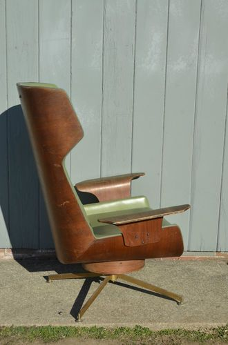Mid Century Modern Molded Plywood Wingback Lounge Chair Eames Plycraft  Vintage  eBay