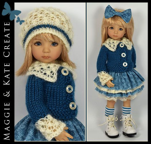 * Blue & Cream * Outfit Little Darlings Dianna Effner 13 Maggie & Kate Create