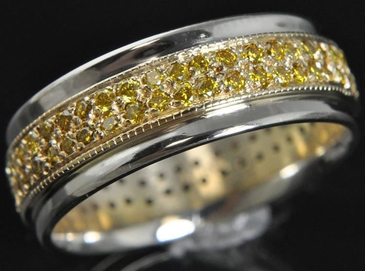 Details About Two Row Eternity Wedding Ring I1 G 1 15