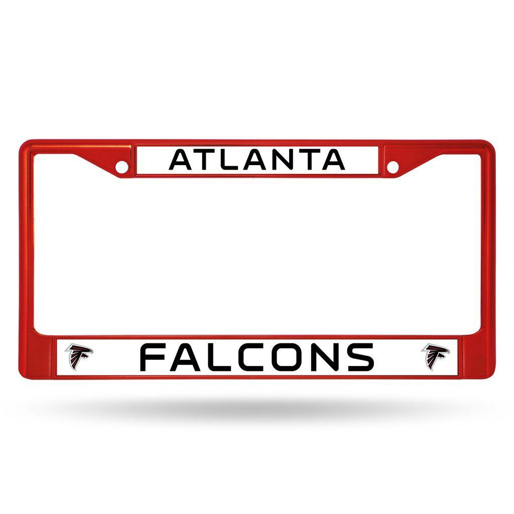 Atlanta Falcons Metal License Plate Frame Red License Plate Frames Chrome Frame