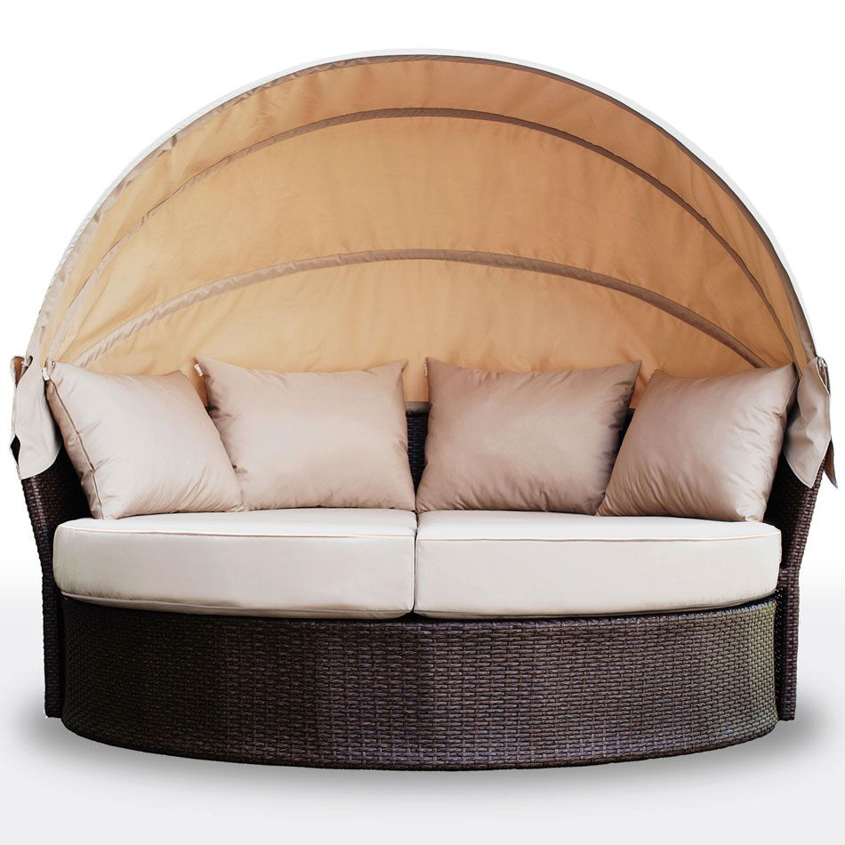 Buy avoca wicker outdoor daybed with poly rattan storage box bundle online australia