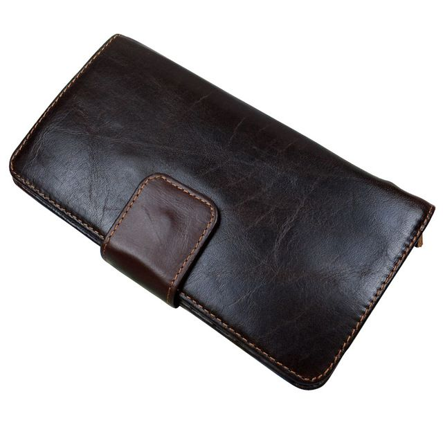 We love it and we know you also love it as well Fashion oil wax leather men wallets cowhide genuine leather wallet man multi card holder clutch bag purse just only $21.60 with free shipping worldwide  #walletsformen Plese click on picture to see our special price for you