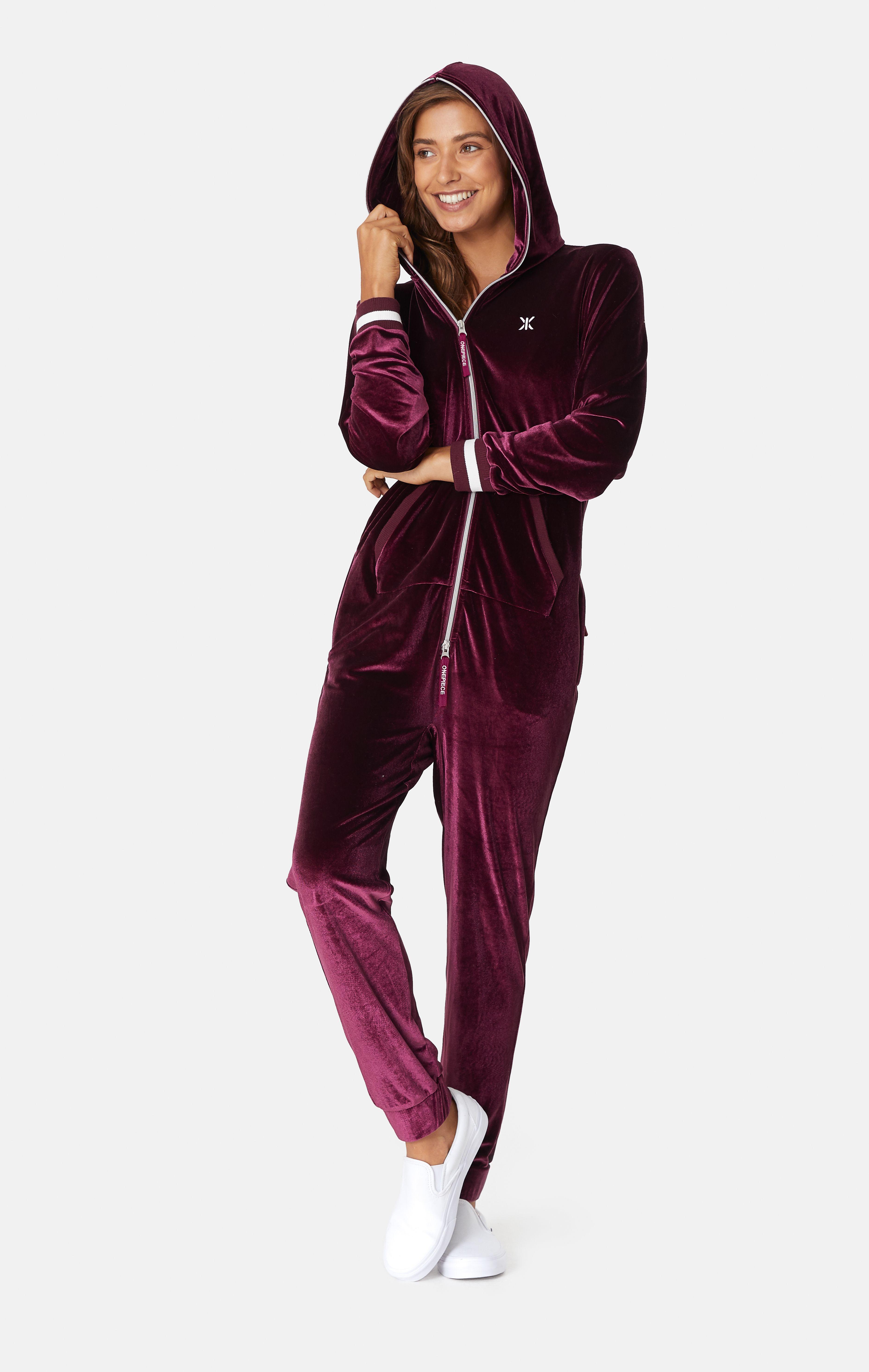 Original Velour Jumpsuit Plum Velour Jumpsuit Jumpsuit Fashion Jumpsuit