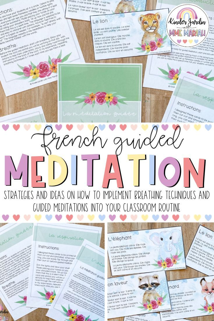 French Guided Meditation Guide Kindergarten Friendly In 2020 Classroom Routines Guided Meditation Classroom