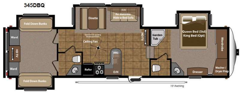 Montana fifth wheel floor plans with two bathrooms - Google Search ...