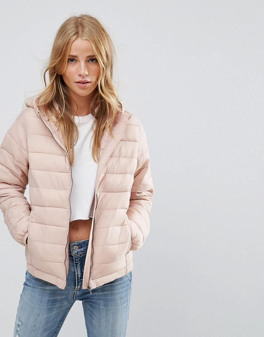 Asos Pull Bear Pull Bear Padded Jacket With Hood Pink Adorewe Com Womens Quilted Jacket Latest Fashion Clothes Padded Jacket [ 1110 x 870 Pixel ]