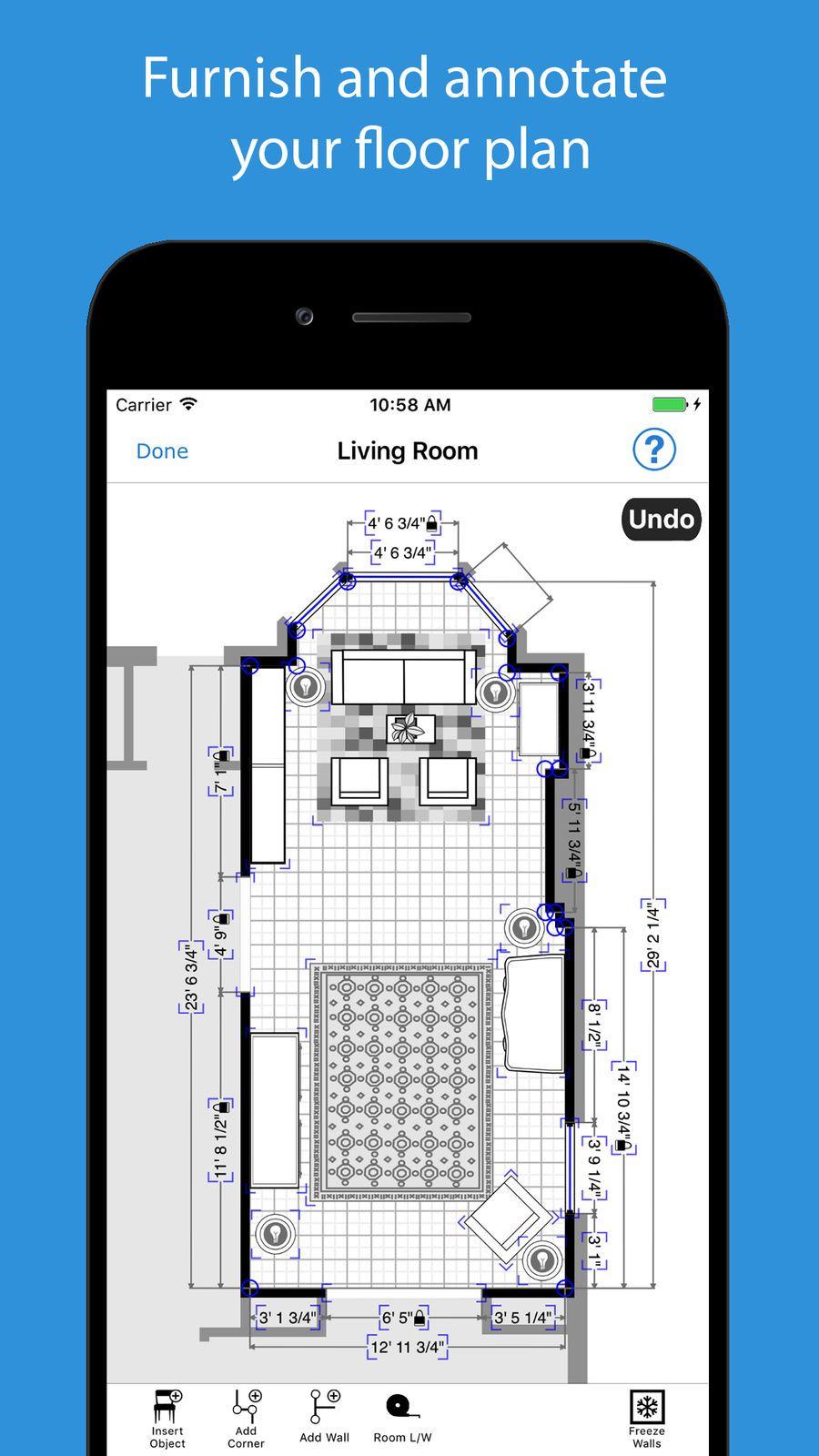 Magicplan Ios Apps App Productivity Floor Plan Creator Floor Plans House Plans
