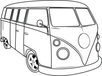 vw kombi coloring in pages Modified VW Bus vw kombi