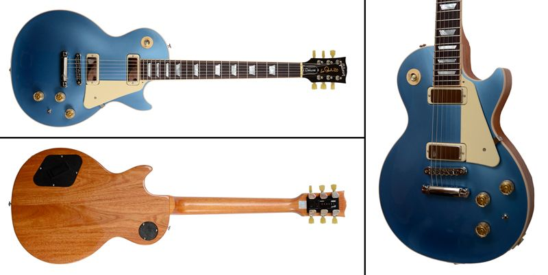 Gibson Les Paul Deluxe 2015 (LPD15PHNH1), New, Metallic Pelham Blue Top, Incl. Case